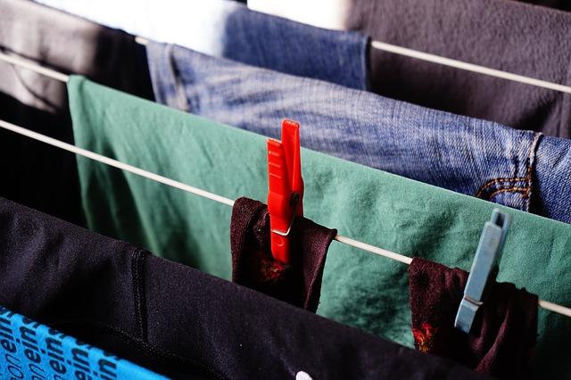 Getrocknete Wäsche Wärmepumpentrockner